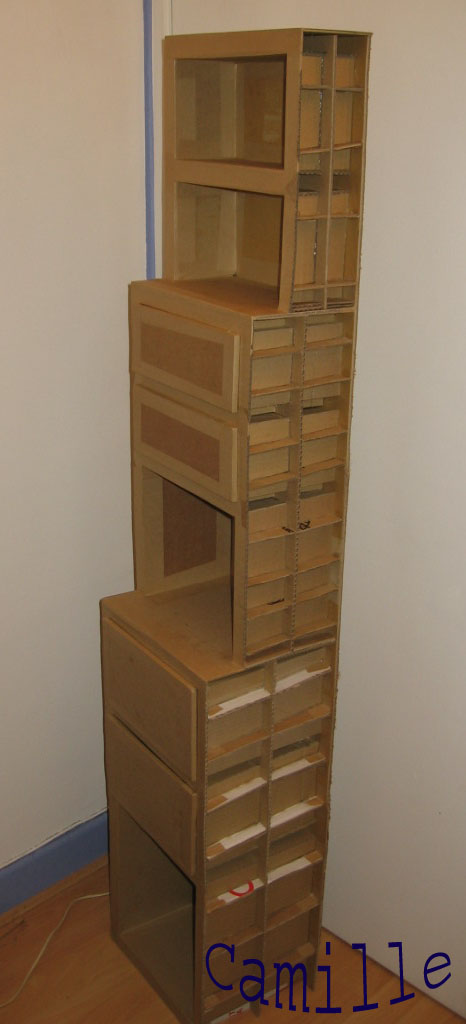 comment cr er un meuble en carton. Black Bedroom Furniture Sets. Home Design Ideas